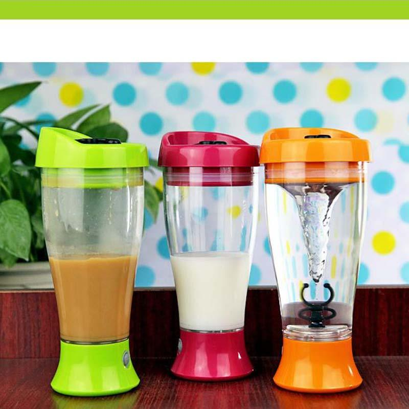 Wholesale- 400ml Electric Protein Powder Shaker Coffee Milk Shake Automatic Jar Fitness Sports Water Bottle Blender Cup Home Convenient