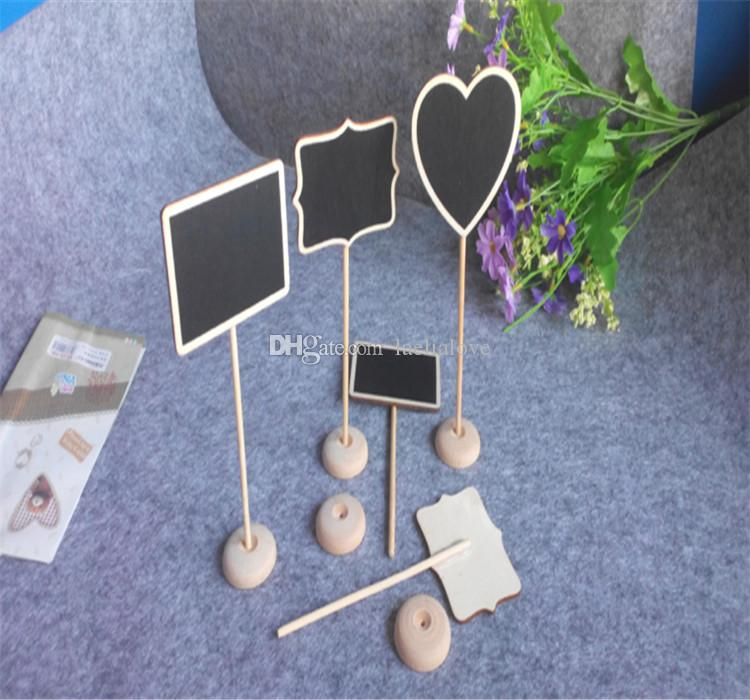 Wooden Mini Chalkboard Table Name Stand Display Memo Board Seat Wood Pegs  Name Card Holder Garden Plants Name Display Home Decoration Novelty Items  Novelty ...