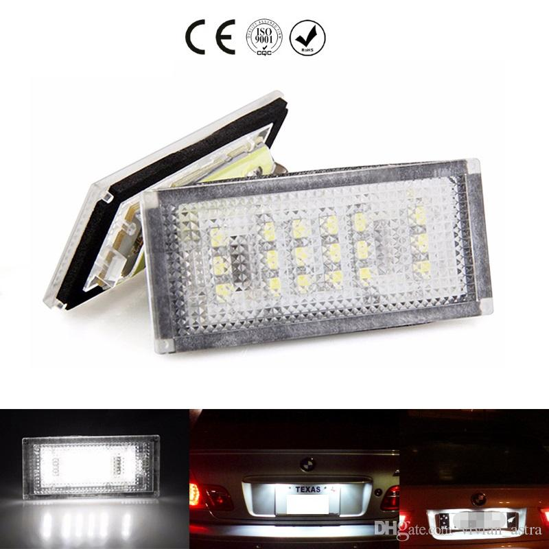 For BMW 3 Series E46 2D M3 2004 2005 2006 Canbus Car LED License Plate Lights 12V White SMD3528 LED Number Plate Lamp Bulb