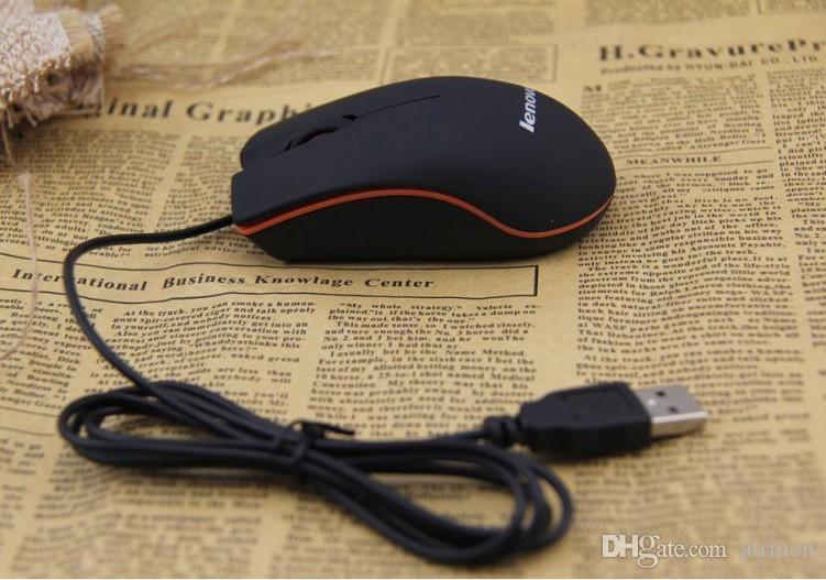 Lenovo M20 настольный ноутбук проводная мышь компьютерные мыши USB универсальная коробка с розничной упаковке бесплатная доставка