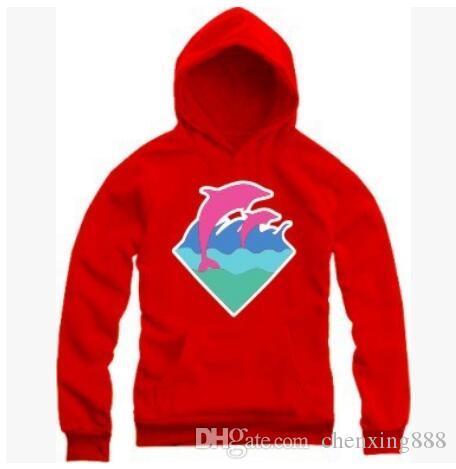 Brand Hip Hop Men and Women Pink Dolphin Hoodies Hedging Sports Thick Cotton Hoody Pink Dolphin Men Sweatshirts