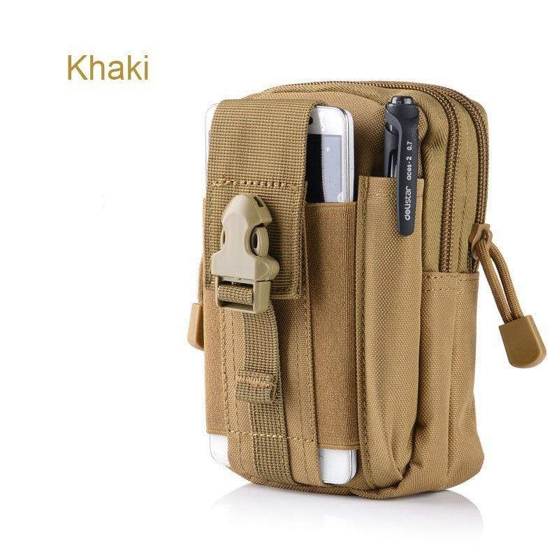 Universal Canvas Holster para Homtom Tactical militar Molle Hip Cintura Paquetes Cinturón Bolsa Cartera Monedero Teléfono Fundas para iPhone Bolsas Cremallera