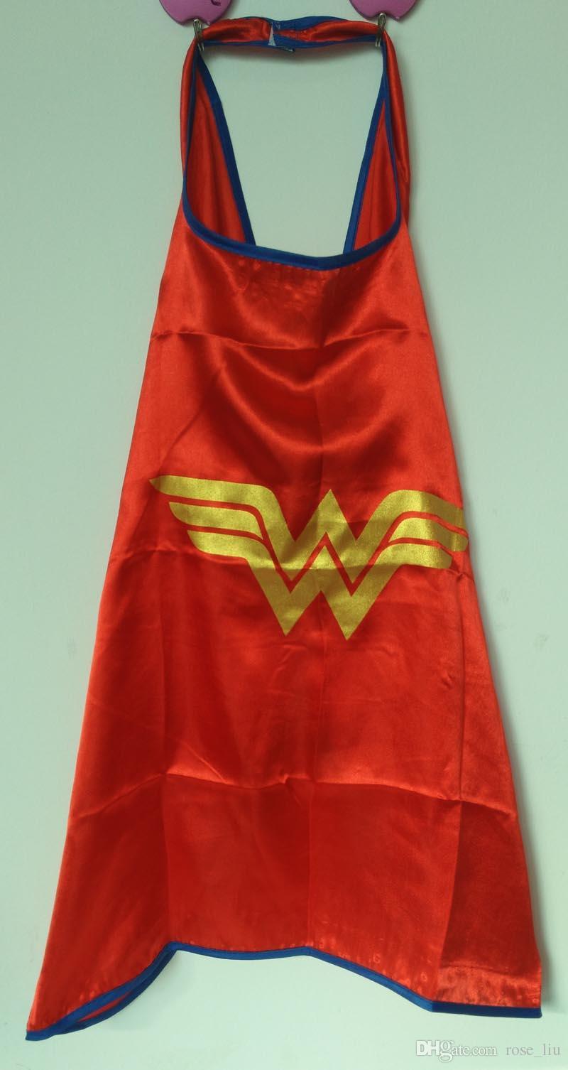 15 Arten ein Schicht 70 * 70CM Superheld Umhänge und Schablone stellten Superhero Cosplay Capes + Schablone Halloween-Kapschablone für Kinder / set ein