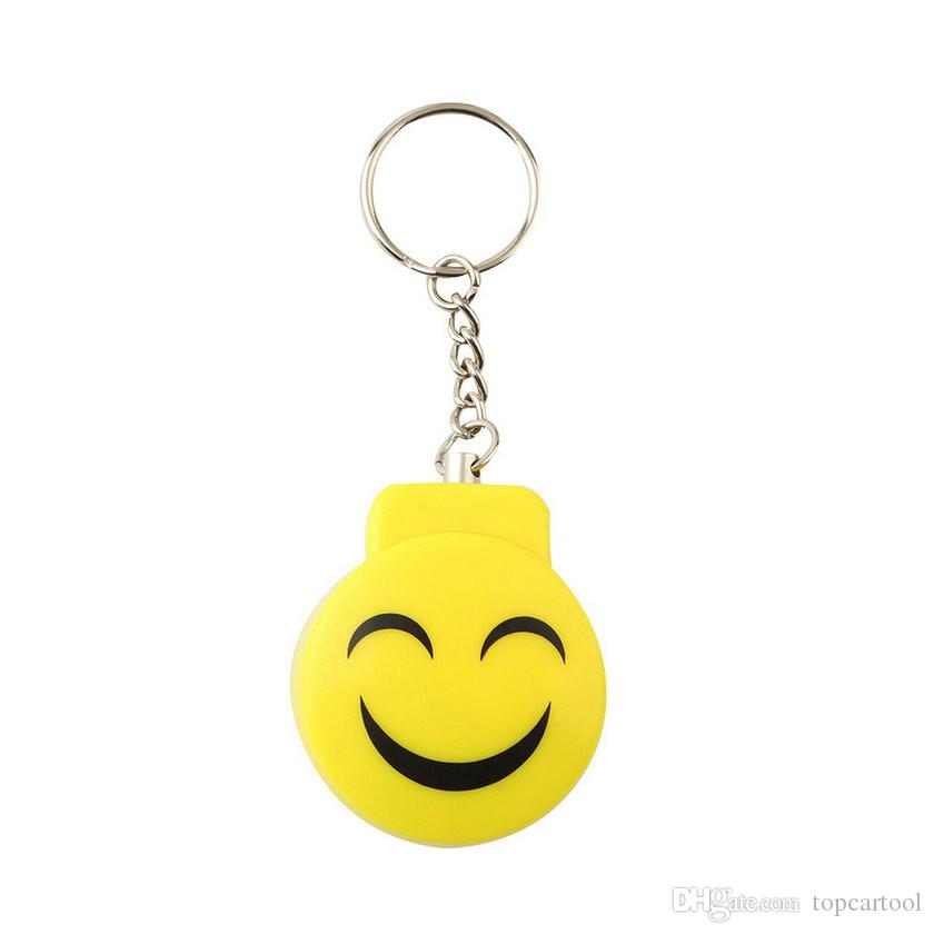 Smile Face Alarm Allarme di panico elettronico personale Anti-colza Anti-attacco Allarme Sensore Sicurezza Sirena Portachiavi 120dB