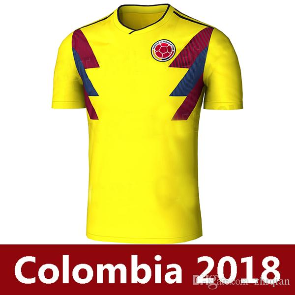 2a412ec59 ... 2018 Colombia soccer jerseys 2018 world cup colombia football shirt 17  18 colombia JAMES Rodriguez Camiseta ...