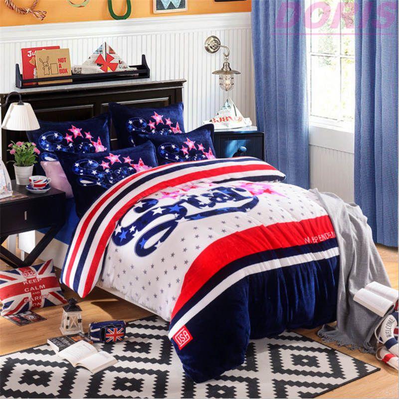 200*230 luxury Flannel Bedding Set 2016 New Style Doris Quilt Cover /Bedsheet /Pillowcase /Sets DHL