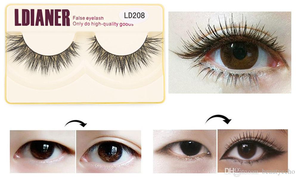 Ldianer Fashion Women Makeup Eye Lashes Natural Thick Long