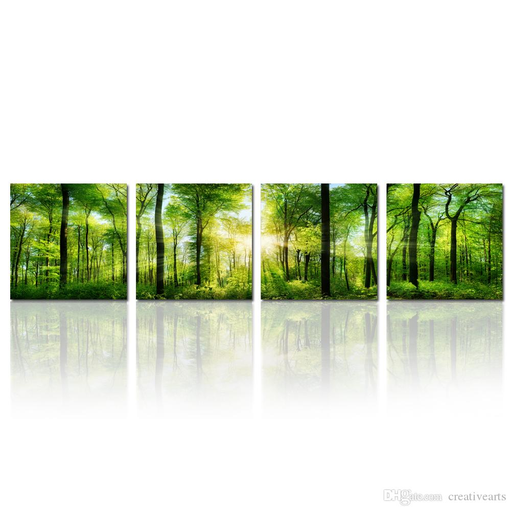 Panoramic Wall Art 2017 summer forest in sunshine landscape panoramic giclee canvas