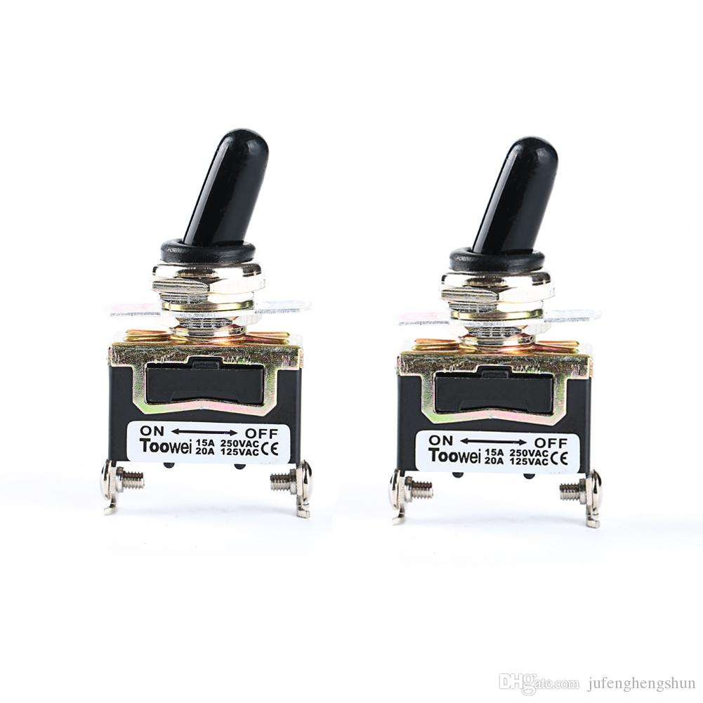 Toggle Switch 125V 20A ON OFF 2 Pin with Waterproof Boots Heavy ...