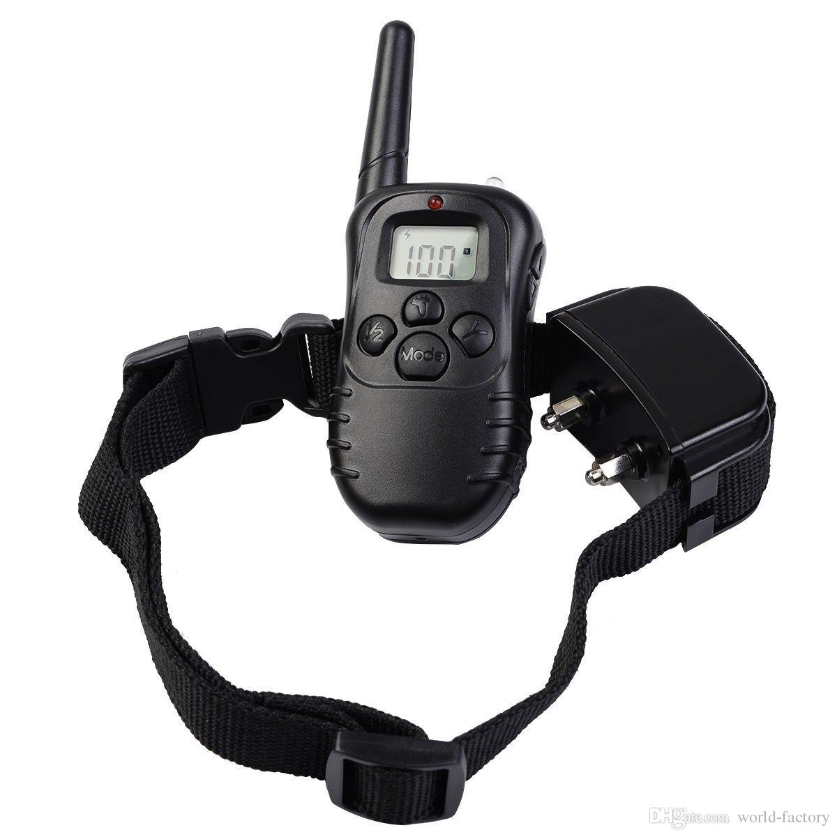 2016 HOT 300 Meters Remote Pet Dog Training Collar Rechargeable And Waterproof With LCD Display Training Collar