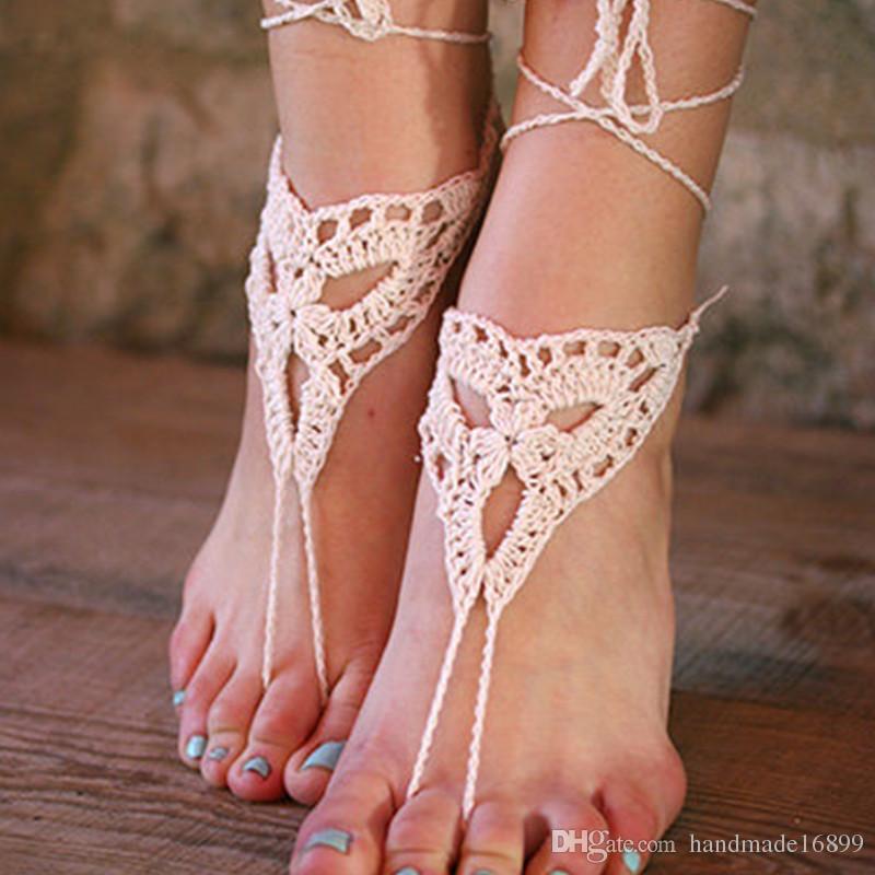 fc6a04d3aaea Handmade Crochet Barefoot Sandals