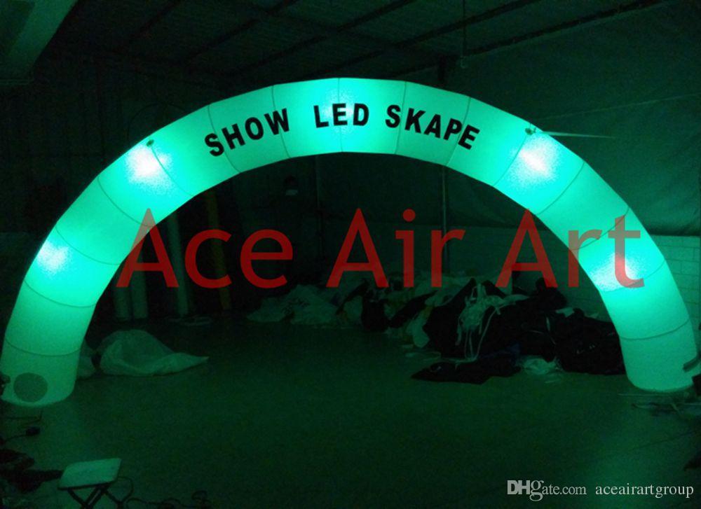 6 m Comprimento x3 m Altura logotipo livre de ventilador de ar redonda inflável Arch iluminação com LOGO e LED para eventos e publicidade