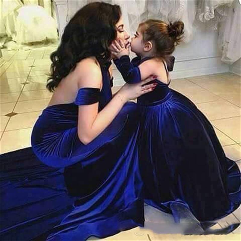 Velvet Ball Gown Girls Pageant Dress Backless Halter