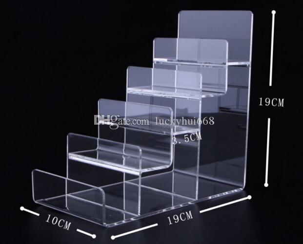 128f224db6a 2019 5 Layers Wallet Display Stand Acrylic Purse Display Rack Watch Glasses  Phone Cosmetic Nail Polish Holder Showing Stand From Luckyhui668