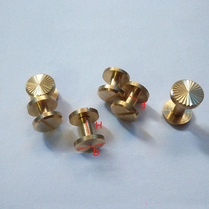 Sun pattern wallet bag screw brass belt screw Rivet diy handmade fastener key case garmnet hardware leather part