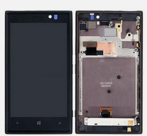 Pantalla LCD completa + Pantalla táctil digitalizador + Marco para Nokia Lumia 925 ~ Nero