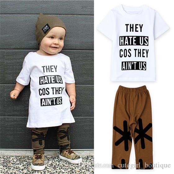 f3b0c1db8 Toddler Kids Baby Girls Outfit Clothes Print T-shirt Tops+ Trousers 2PCS  Set Tops children s clothing sets