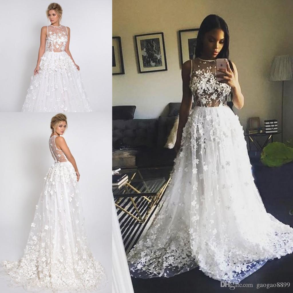 Discount Pallas Couture 3d Flowers Crystals Modest Wedding Dresses ...