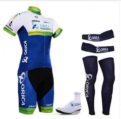 Hot 2016 Cycling Team Orica Greenedge Complete Set Pro Cycling Jersey Bibs  Shorts With Cycling Leg Warmers   Arm Warmer   Shoes Cover Sports Jersey  Buy ... 1c585e7ff