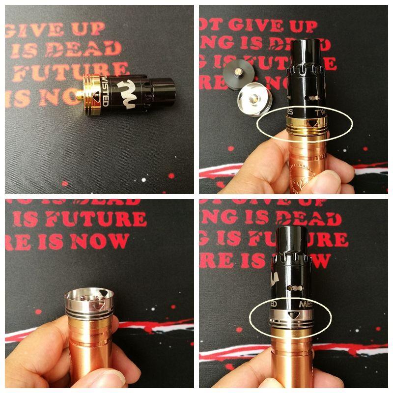 Dissipador de calor v2.0 atualização Dissipador De Calor dissipador de calor protetor decorativo anel de beleza 510 conector adaptador para vape rda mod DHL