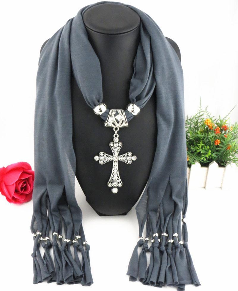 Späteste preiswerte Art- und Weisedamen-Schal-direkte Fabrik-freie Rhinestones Kreuz-hängende Schals Schmuck-klassische Querschals Quaste