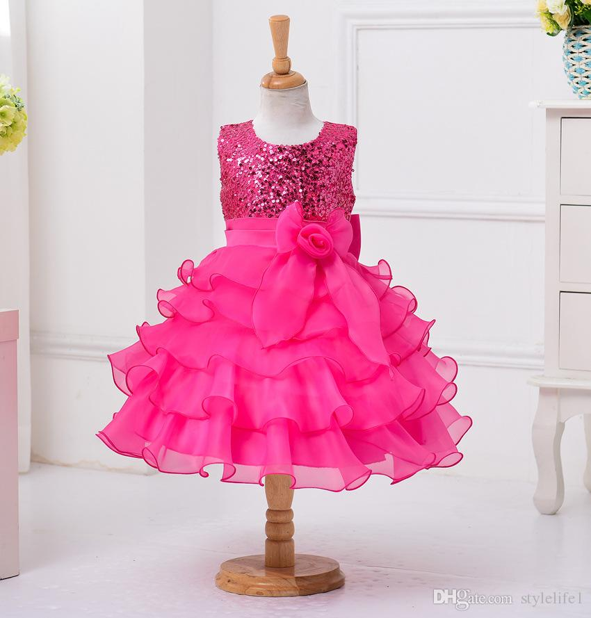 2017 Babydoll Dress Pageant Party Dresses Girl, Performance Shows ...