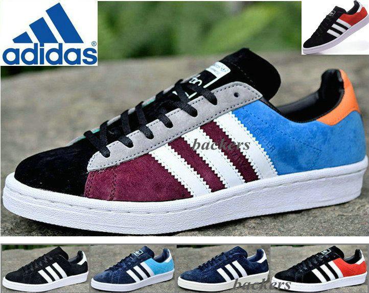 check out 32350 e5eb0 Compre Adidas Originals Zozo 80 Campus De La Ciudad Zapatos Corrientes De  Las Zapatillas De Deporte Del Patín Original Mujeres Hombres Negro Azul  Tamaño 36 ...