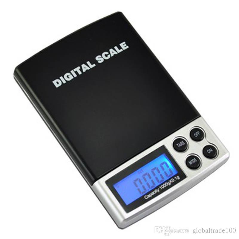 Mini Digital Waagen Pocket Waage Gold Schmuck Skala 0,1g - 1000g / 0,1g - 500g + Schwarz Fall Freies DHL