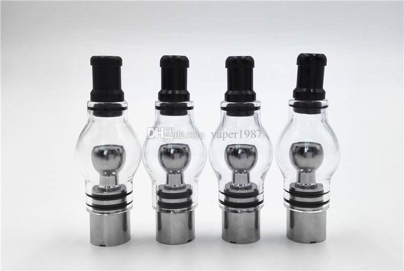 Fixation de cire en verre pour globe avec tête de bobine en métal Fil de titane Quartz Double bobine Chauffage rapide Goût pur en stock