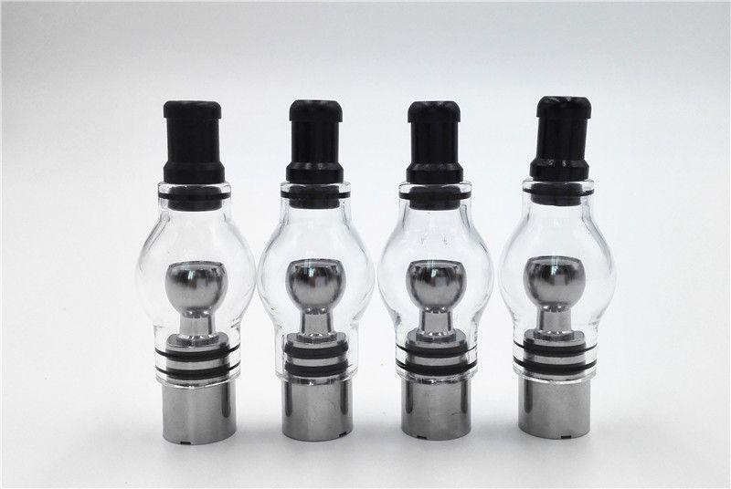 Glass Globe Tank Wax Attachment with Metal Coil head Titanium wire Quartz Dual Coil Fast Heating Pure taste in Stock