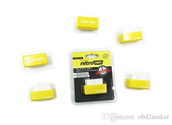 NitroOBD2 가솔린 벤진 자동차 칩 튜닝 상자 NitroOBD 더 파워 토크 니트로 OBD 플러그 앤 드라이브 니트로 OBD2 / 많은