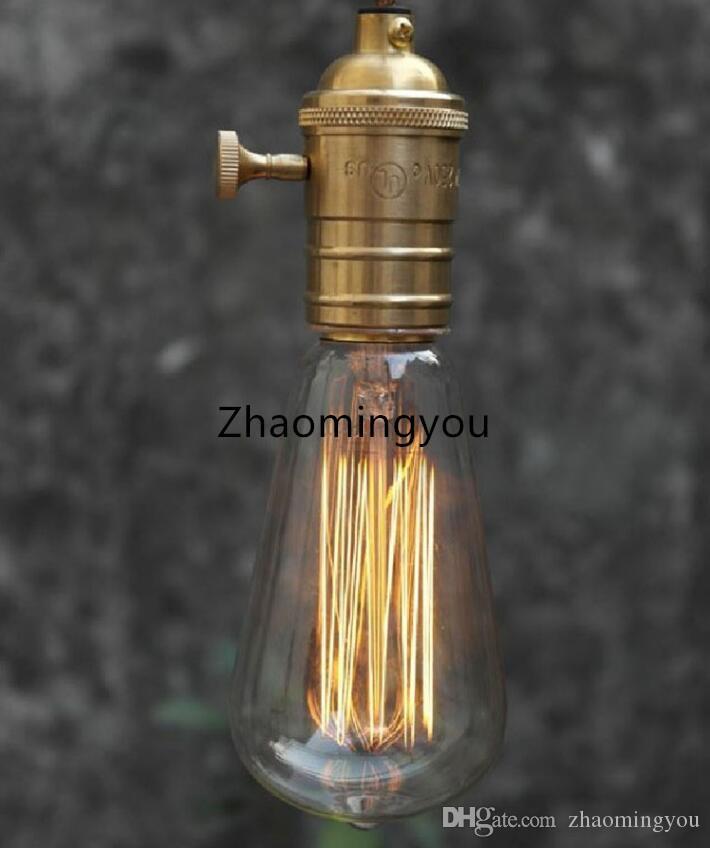 40W / 60W classique rétro Vintage E27 filament ST64 Edison ampoule lampe blanc chaud 110V 220V antique lampe ampoule à incandescence