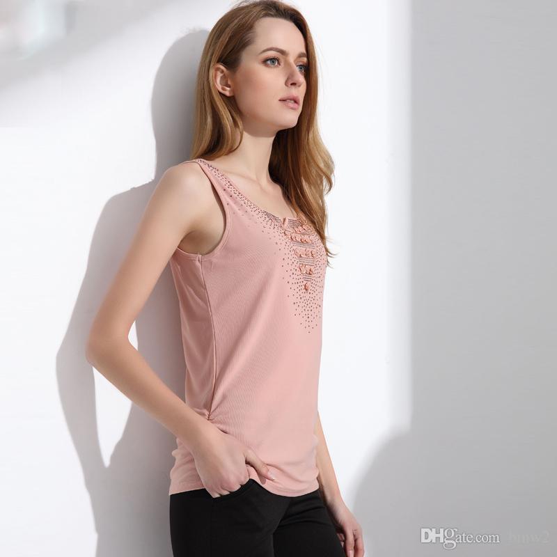 Femmes d'été Débardeur 2020 Dentelle élégante OL Blusa réservoir camisoles pour les femmes Travailles Mesh Débardeur Femmes manches