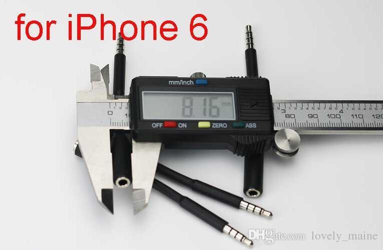 Adaptador de auriculares 3.5mm Jack Aux Cable de extensión Auxiliar Audio Cables macho a hembra para iPhone 5 5C 5S 6 6G 6S Plus