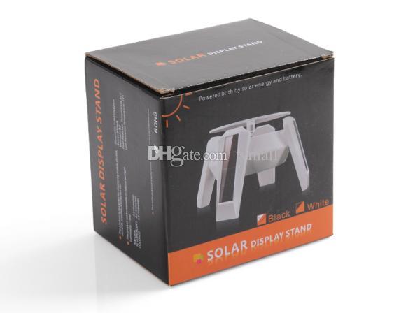 تعمل بالطاقة الشمسية تدوير عرض موقف بدوره الجدول الدوار منصة للمجوهرات المعصم الهواتف المحمولة كاميرا أسود / أبيض