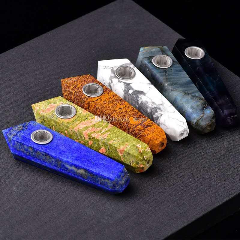 Tubos que fuman libres del punto de la vara del cristal de cuarzo del fluorito del arco iris del precio de fábrica con el carburador y 3 pantallas