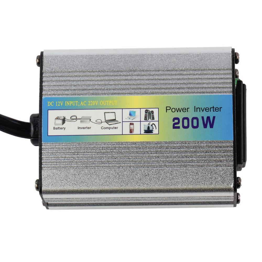 HF XUYA200 200W Auto Camion Barca auto USB da 12V a CA 220 V 110 V US EU Super Power Convertitore Convertitore