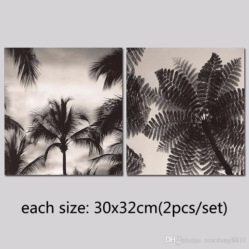 black and white decoration wall art pictures trees grey sky Canvas Painting for living room home decor unframed