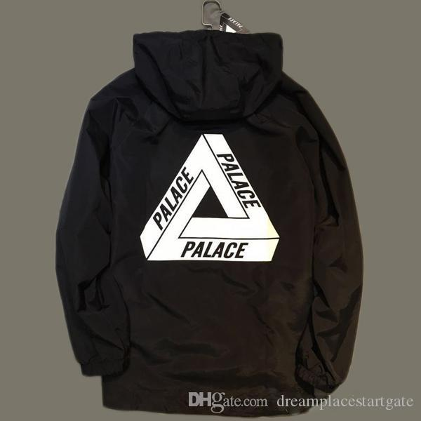 a255c1949c1d 2019 PALACE Reflective Black Jacket Mens Windbreaker Waterproof Outdoor  Hiking Skiing Jacket Coat Hip Hop Trench Coat Masculina Jaqueta From ...
