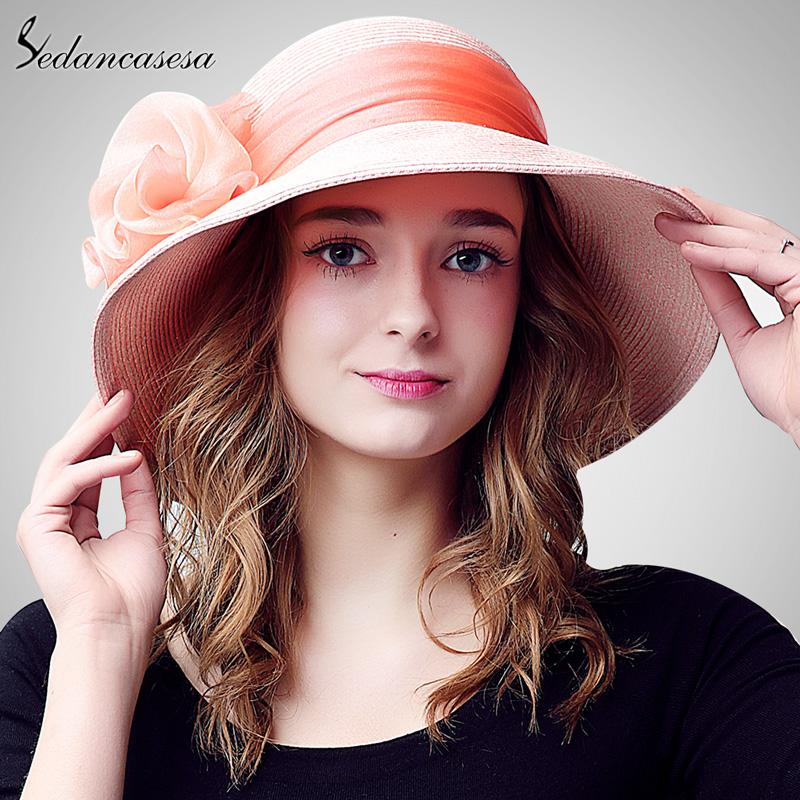 0ab06b24741 Wholesale Summer Sun Hat Female Holiday Wide Brim Beach Hat For Women Sun  Visor Caps Handmade Flower Decoration Girls Ladies Hats SW105070 Hats For  Men Sun ...