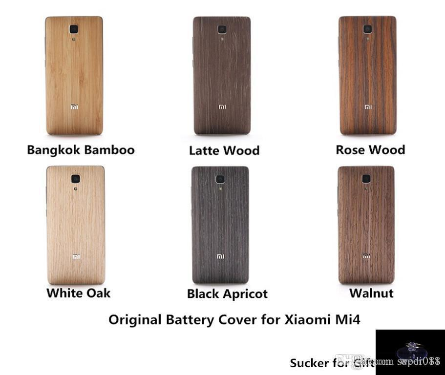 5a64f8c47 Original Wood Case For Xiaomi Mi4 Bamboo Back Battery Cover For Xiaomi Mi 4  Housing Replacement Spare Parts Sucker For Gift Top Rated Cell Phones  Leather ...