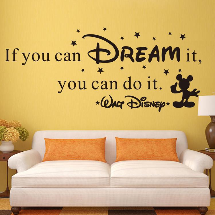 If You Can Dream It,You Can Do It Wall Quotes Decor Kids Room Decals Flower Wall  Decals Flower Wall Sticker From Billshuiping, $170.86| Dhgate.Com