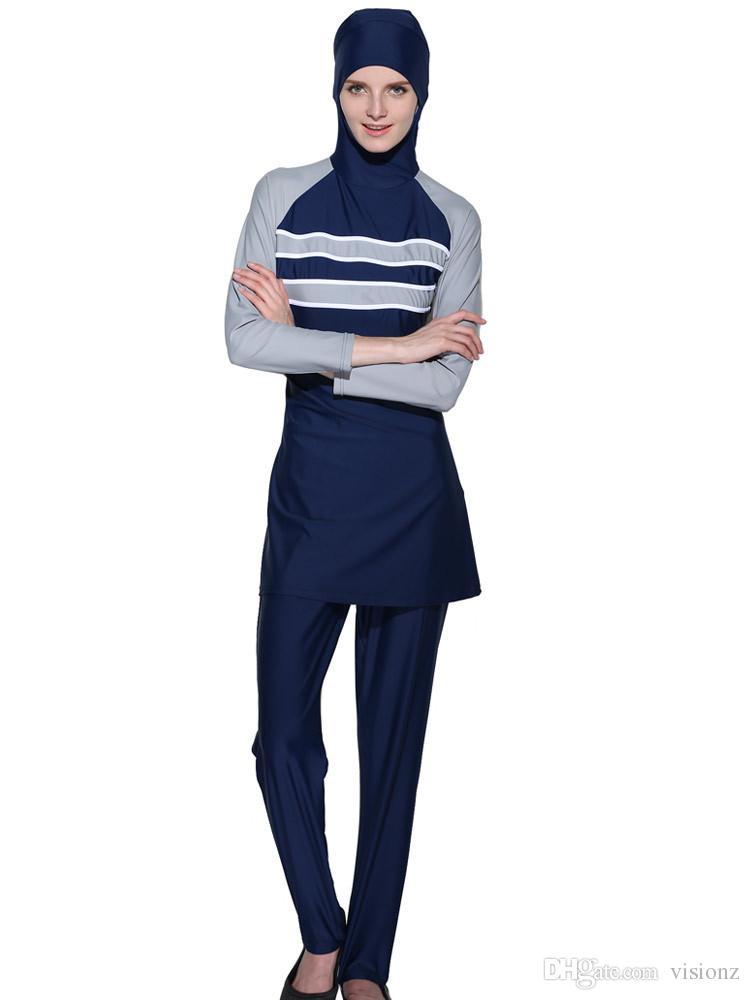 modest swimsuits Full islamic swimwear Women muslim bathing suit muslimah swimming swim adulte Arab Beach Wear high waist hijabs