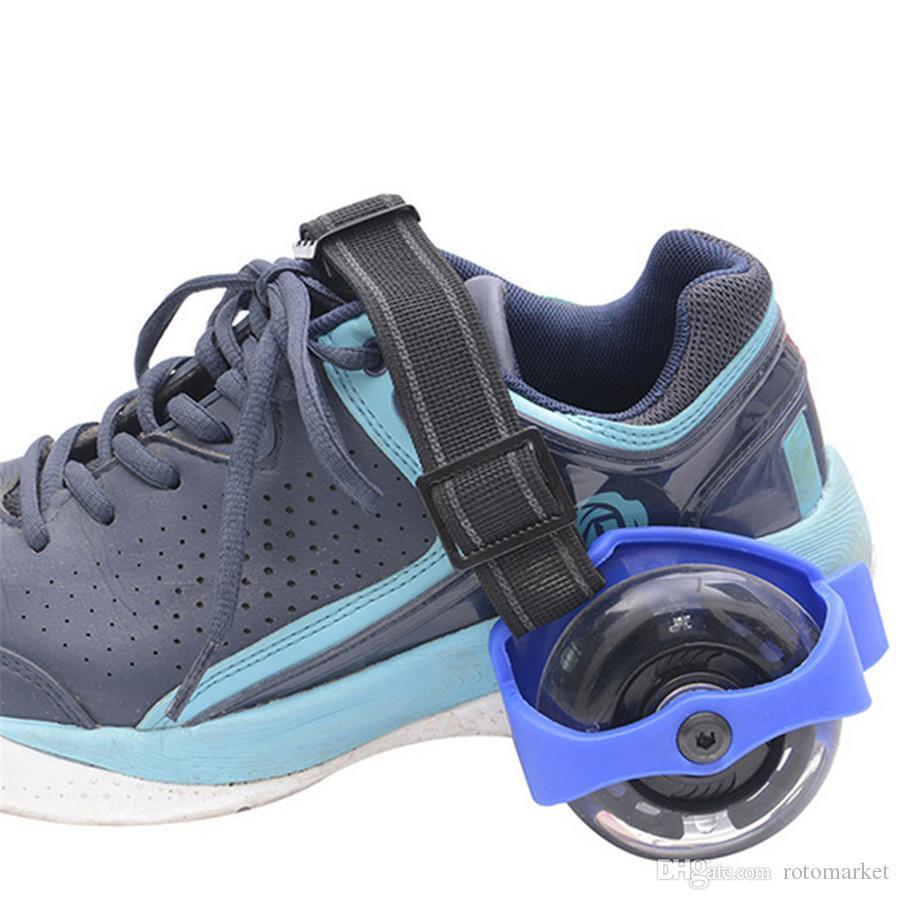 Çocuk Tekerlek Topuk Rulo Işık Ayarlanabilir Paten Çocuk Falsh Blade Ayakkabı Askısı