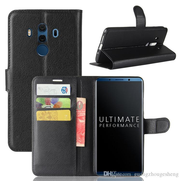 Pour Huawei Mate 10 Pro Mate 10 Porsche Design Etui portefeuille en cuir Flip Cover avec titulaire de la carte