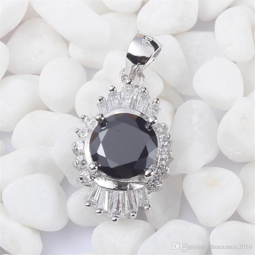 925 sterling silver Fashion Pendants Shinning Noble Generous S-3716 Black Cubic Zirconia Favourite Best Sellers First class products Vintage