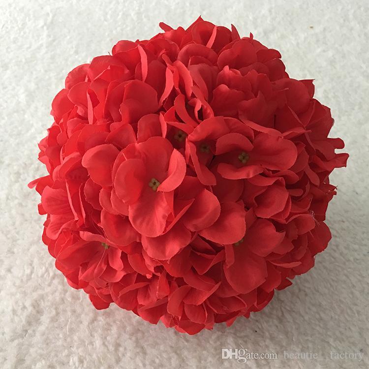 18cm Artificial Silk Hydrangea Flower Balls Wedding Party Pomander Bouquet Home Decoration Ornament Kissing Ball New