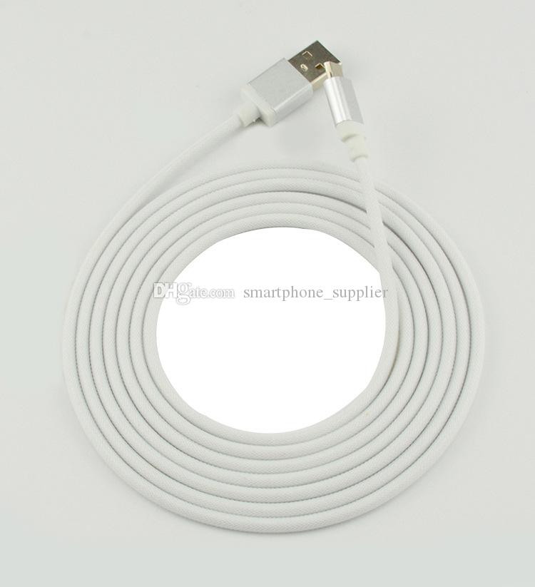 20cm 1M 2M micro 5pin fabric fish net braided metal head micro usb data cable cord for samsung s3 s4 note 2 htc lg mp3 wholesale