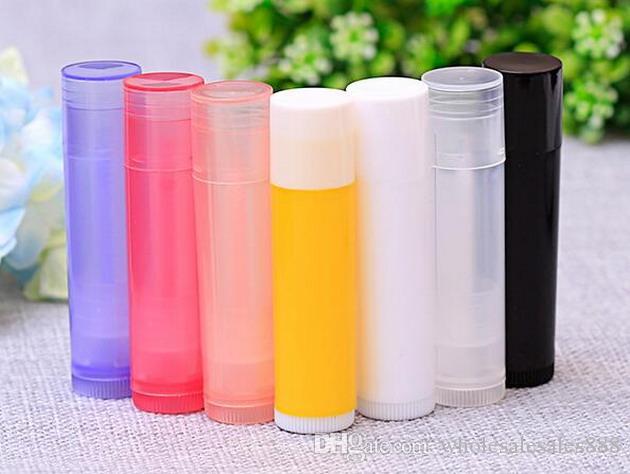 5g Renkli Sağlam Plastik Boş Dudak Balsamı Tüpler Konteynerler Kapakları ile Crayon Ruj, ruj, ev yapımı Dudak Balsamı için Caps