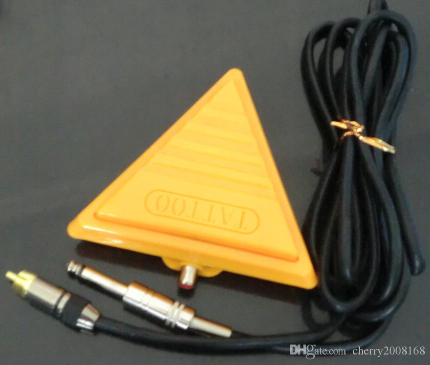 Wholesale- New Pro Triangle Tattoo Flat Foot Pedal Switch Footswitch Tattoo Supply High Quality